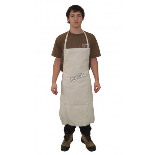 "Bib apron white denim 36"" X 29"""