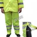 Pantalon imperméable économique de couleur jaune haute visibilité avec bandes réfléchissantes grandeurs (S à 5XL)