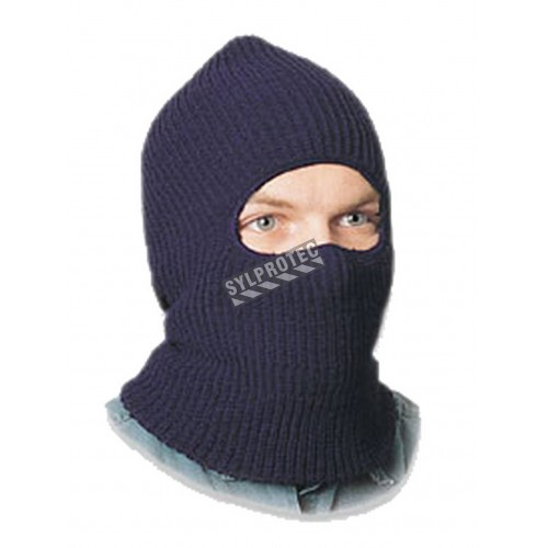 Thermal balaclava with face opening, 100% acrylic, black