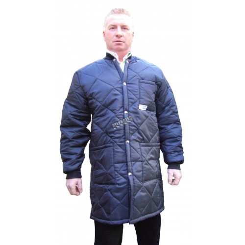 Long freezer coat whit polar, snap and 3 pockets