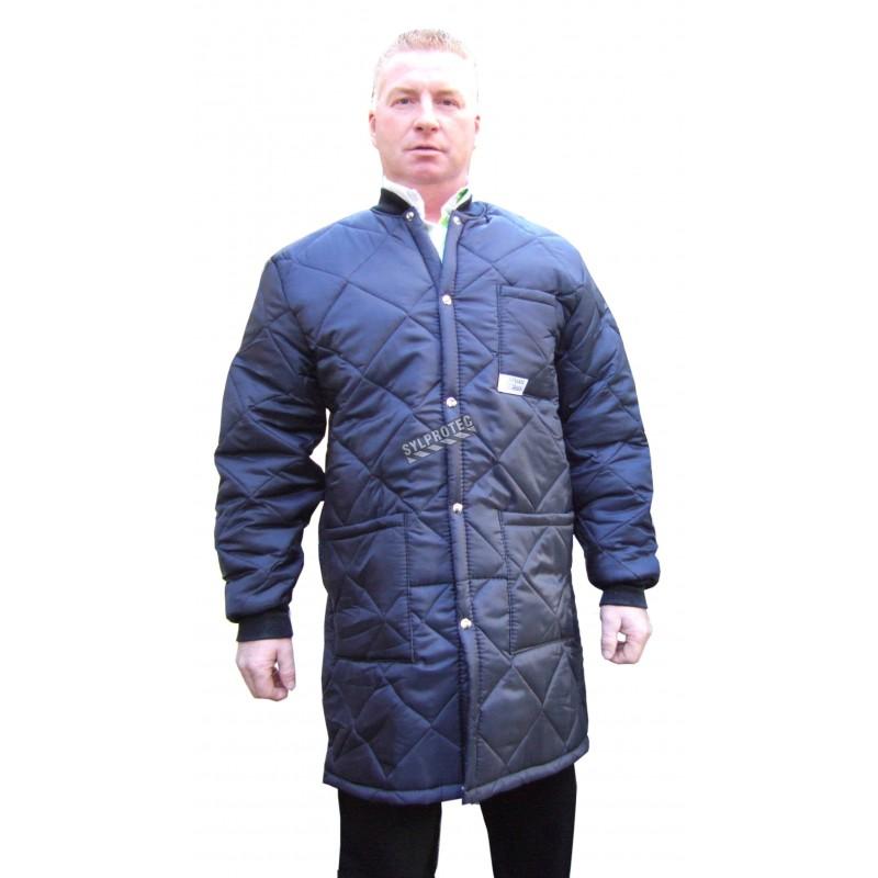 Long freezer coat whit polar, snap and 3 pockets
