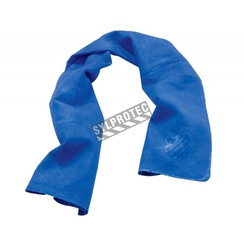 Cooling towel for reducing heat discomfort.