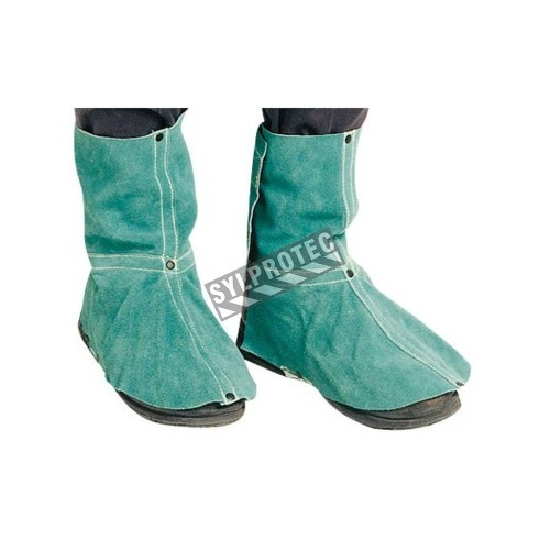 Leather gaiters 6.5 inches. high heat resistant