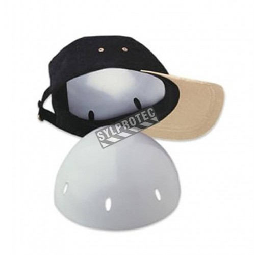 Protective Shell Insert for Baseball Cap, white.