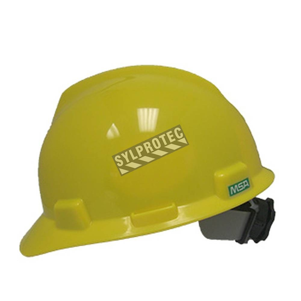 MSA® Super V™ hard hat CSA & ANSI type 2, class E approved with a  four-point suspension  Sold individually