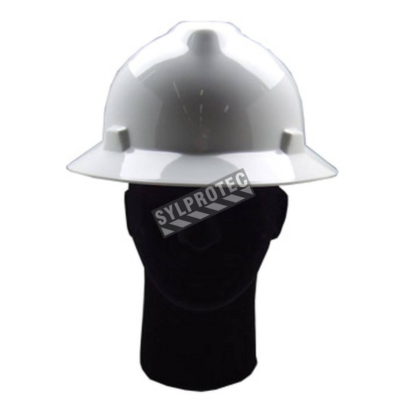 MSA® V-Gard™ minor hard hat CSA & ANSI type 1, class E approved with a  4-point suspension  Sold individually
