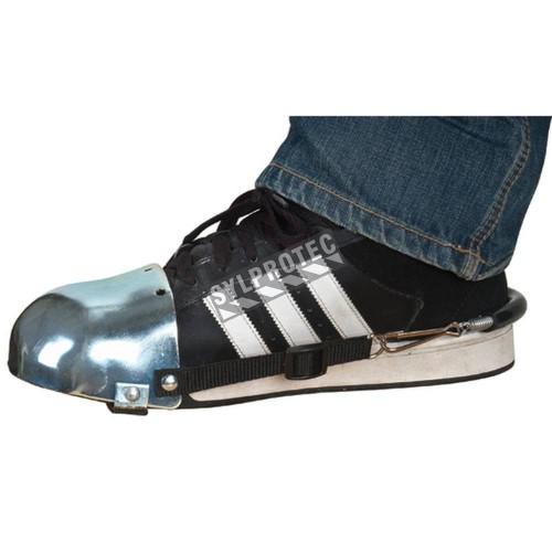 Protège-orteils en acier avec courroies ajustables (paire).