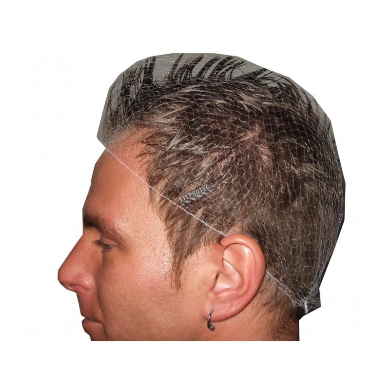 """White nylon mesh hair net 21"""", 30 pq  of 12 units"""