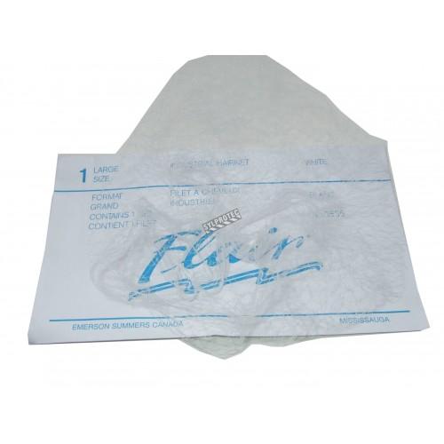 """Filet 21""""en nylon blanc à petite mailles,30 pq de 12 un"""