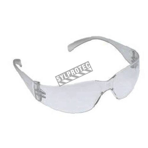 3M Virtua Max protective eyewear with anti-fog treated clear polycarbonate lenses. CSA approved for impact protection.