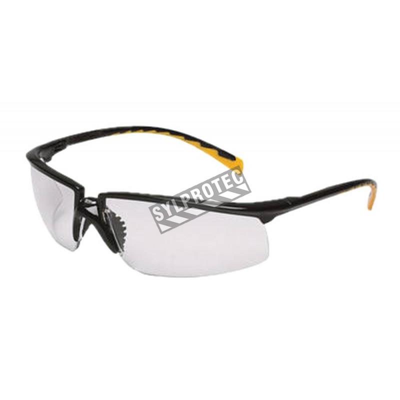 Lunette de sécurité Privo pour protection oculaire par 3M. Lentille de polycarbonate clair & revêtement antibuée. Homologué CSA
