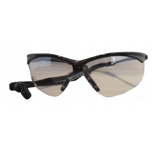 Jackson Safety Nemesis protective eyewear with anti-fog treated clear polycarbonate lens. Features eye glass cord & sport design