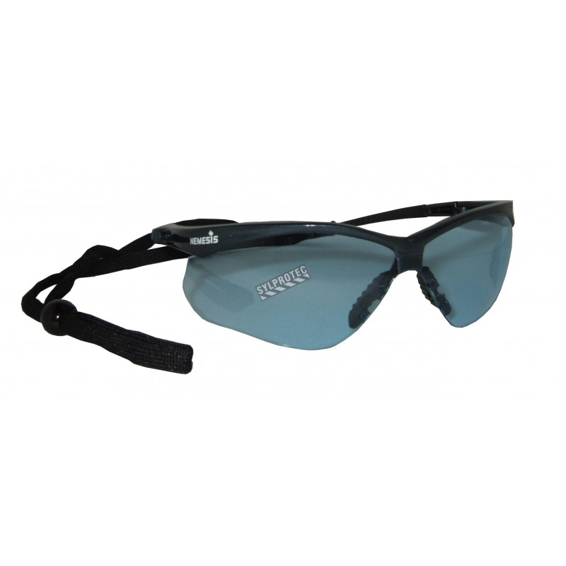 Jackson Safety Nemesis protective eyewear with anti-fog treated blue polycarbonate lenses ideal for low light or indoor work.