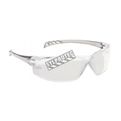 Lunette de sécurité Triton pour protection oculaire de North. Lentille claire & revêtement antibuée, anti-rayure & antistatique