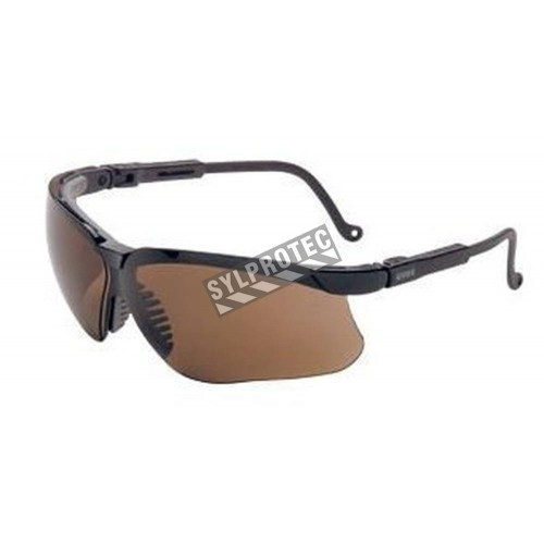 Uvex Genesis protective eyewear with Uvextreme anti-fog treated espresso polycarbonate lenses for everyday outdoor activities