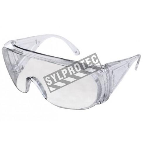 Lunette de sécurité Ultra-Spec 1000 pour protection oculaire par Uvex. Lentille de polycarbonate transparente sans revêtement.