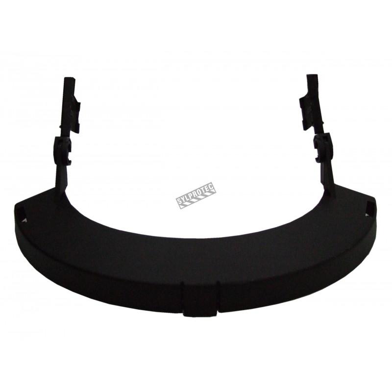 Porte-visière en nylon pour protection faciale sur mesure par North. Conçu pour installation sur casque de style minier North.