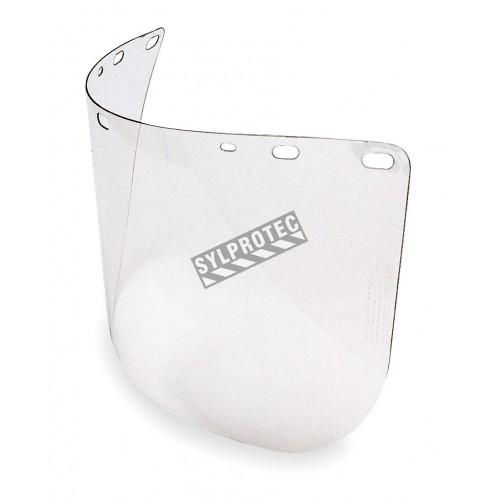 Visière en polycarbonate transparent pour une protection faciale sur mesure. Compatible avec tous les porte-visières de North.