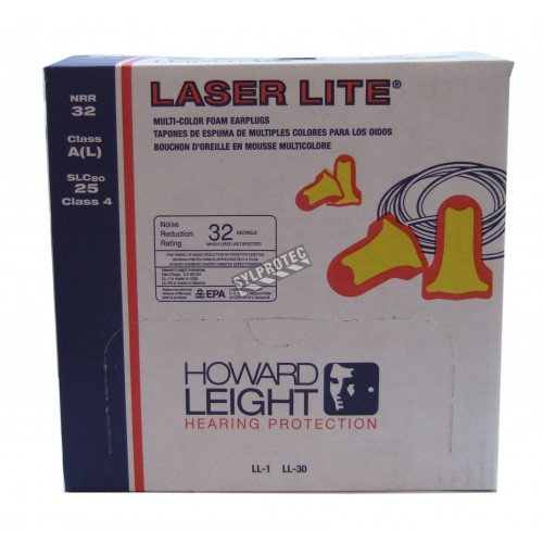 Bouchon LASER LITE avec corde, 32 db, bt/100