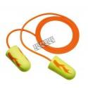 Bouchon d'oreille antibruit jetable 311-1252 EARSOFT régulier avec corde,33 db bt/200