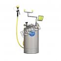 Portable eyewash station with handheld spray hose 10 gallon 37.9 L pressurized tank certified ANSI Z358.1-2009