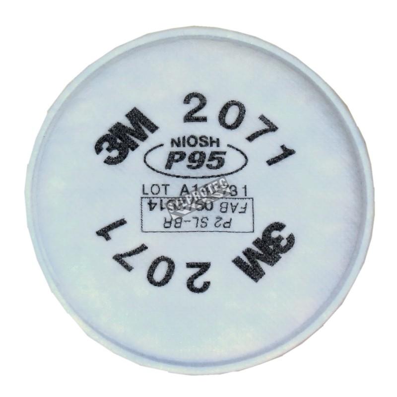 3M P95 filter for half & full facepiece respirators series 6000, 7500 & Ultimate FX. NIOSH  approved. 2 units.