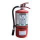 Portable fire extinguisher with FE36, 13.25 lbs, type ABC, ULC 2A-10BC, with wall hook. Ideal for electronics.