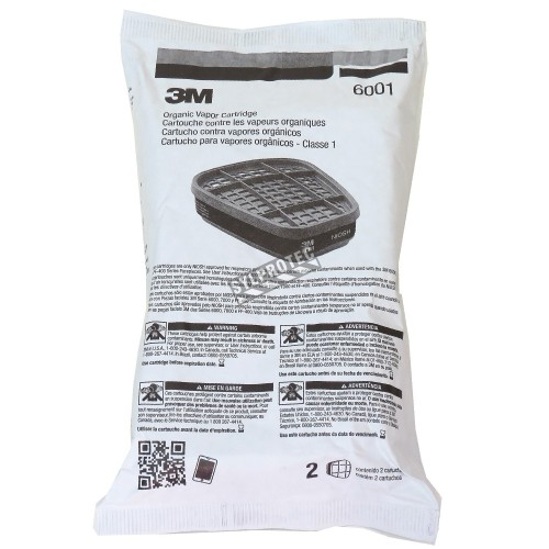 3M NIOSH and CSA approved organic vapors cartridge for 3M half & full facepiece respirators series 6000, 7500 & FF-400.
