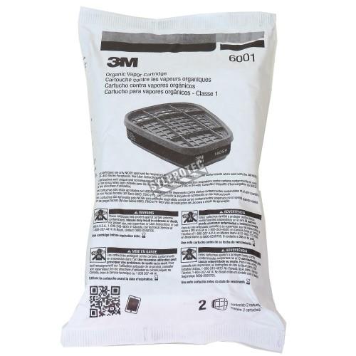 Cartouche contre les vapeurs organiques de 3M, compatible avec les masques de protection respiratoire des séries 6000 & 7500.
