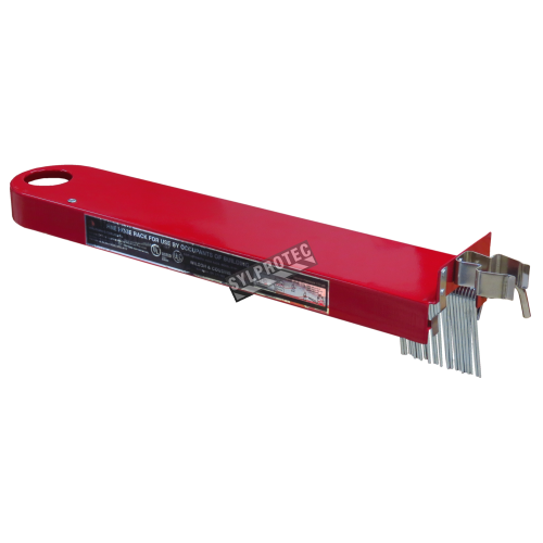 Horizontal reel for fire hose of 75 ft and 100 ft