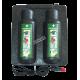 Armoire chauffante pour deux bouteilles de solution de rinçage oculaire Cederroth de 500 ml.