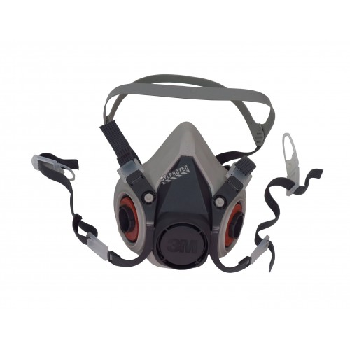 3M 6000 series NIOSH approved respirator. Lightweight and comfortable. Filter & cartridge not included. Small.