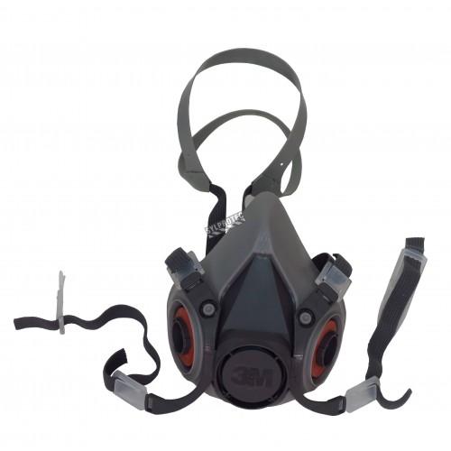 Demi-masque de protection respiratoire de série 6000 de 3M. Homologué NIOSH. Cartouche et filtre non-inclus. Moyen.