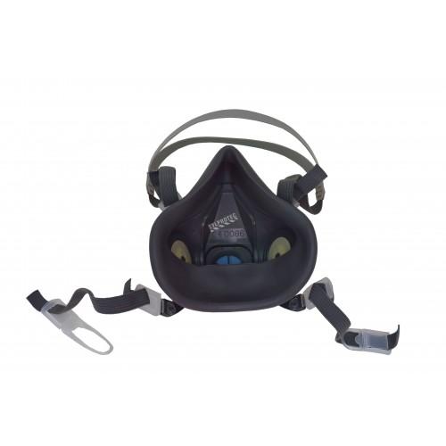 Demi-masque de protection respiratoire de série 6000 de 3M. Homologué NIOSH et CSA Z94.4. Cartouche et filtre non-inclus. Large.