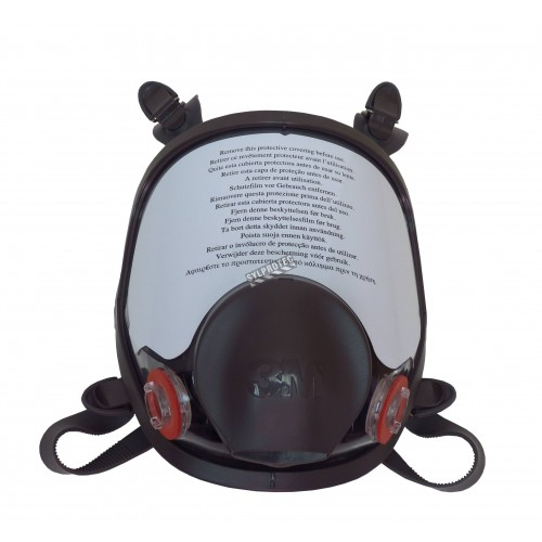 Masque complet de protection respiratoire de série 6000 de 3M. Homologué NIOSH & CSA Z94.4. Cartouche & filtre non-inclus. Moyen
