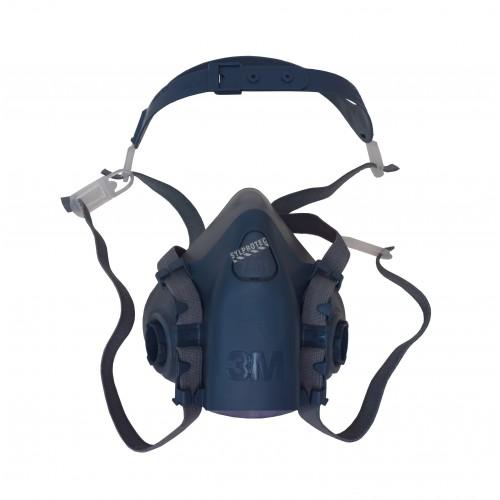 Demi-masque de protection respiratoire de série 7500 de 3M. Homologué NIOSH et CSA Z94.4. Cartouche et filtre non-inclus. Petit.