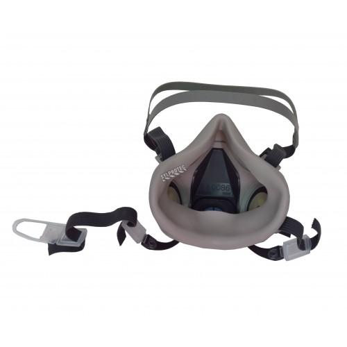 Demi-masque de protection respiratoire de série 7500 de 3M. Homologué NIOSH. Cartouche et filtre non-inclus. Petit.