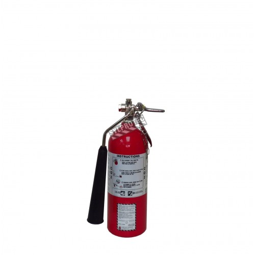 Extincteur portatif à CO2 5 lbs, classe BC, ULC 10B, avec crochet mural. Idéal pour feux électriques.