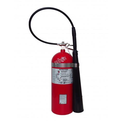 Extincteur portatif à CO2 20 lbs, classe BC, ULC 10BC, avec crochet mural. Idéal pour les feux électriques.