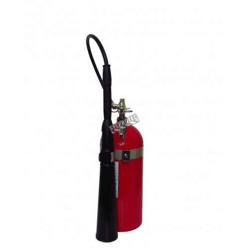 Portable fire extinguisher with CO2, 10 lbs, type BC, ULC 10BC, with wall hook. Best for electrical fires.