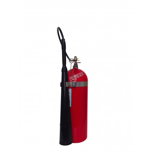 Portable fire extinguisher with CO2, type BC, ULC 10BC, with wall hook. Best for electrical fires.