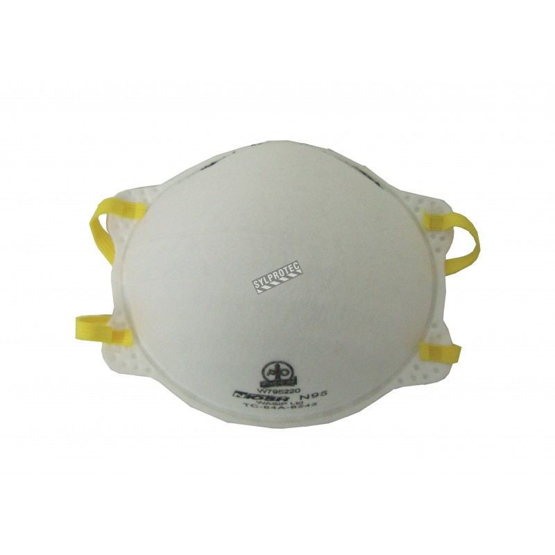 N95 NIOSH approved particulate half face respirator for protection from airborne solids, liquids and non-oil based particles.