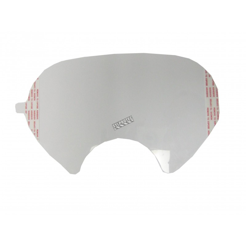 Écran de protection autocollant de couleur claire pour masque complet de protection respiratoire de la série 6000 de 3M.