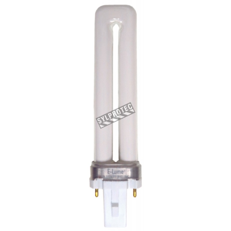 Ampoule fluorescente 7 W pour enseignes «Sortie»