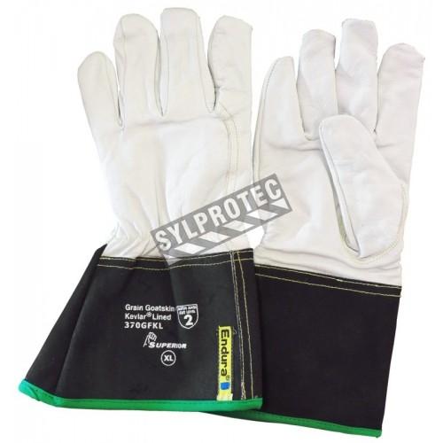 Welder gloves for TIG & MIG whithj interlock-knit Kevlar