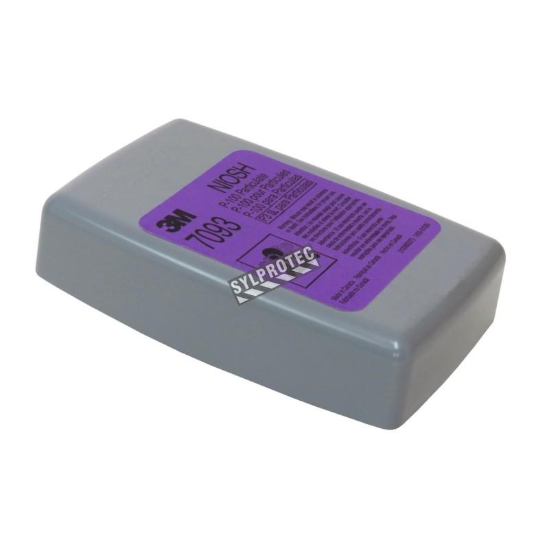 Filtre P100 pour masque de protection respiratoire de série 6000, 7000 & FF-400 de 3M. NIOSH. 144 unités (72 pai