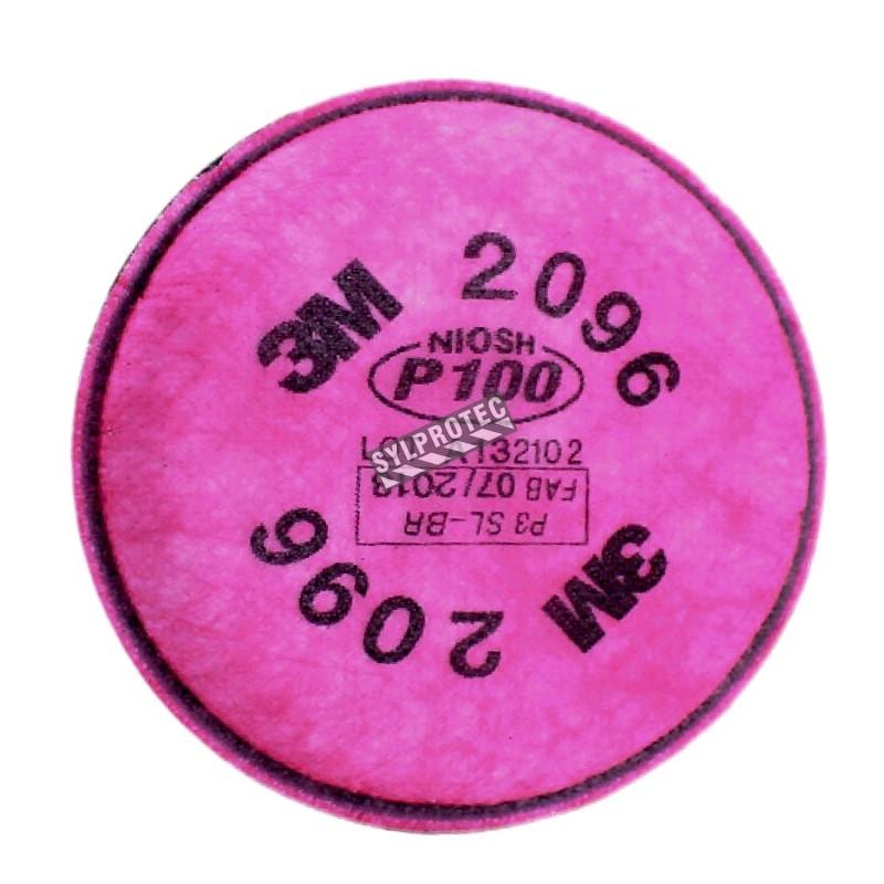 Filtre P100 contre les concentrations nuisibles de gaz acides. Homologué NIOSH & CSA. Vendu à la paire.