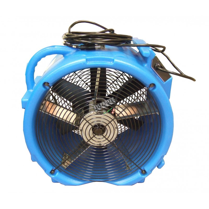 RAPTOR two speed axial air mover for intensive work. Low speed of 1300 cfm & high speed of 1950 cfm. Normal amps of 2.3 to 2.8 A