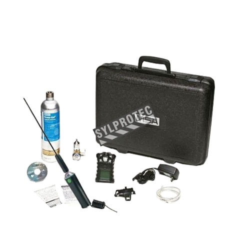 Multigas (O₂, CO, H₂S + explosive gas) detector complete kit for detection of hazardous gases or gas leaks in confined space.