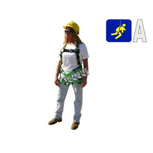 Miss Miller safety harness for women  with 1 back D-ring and friction buckles. CSA class A.